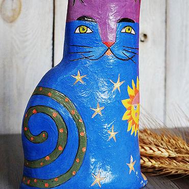 Для дома и интерьера ручной работы. Ярмарка Мастеров - ручная работа Вазы: керамическая ручной работы Кошка. Handmade.