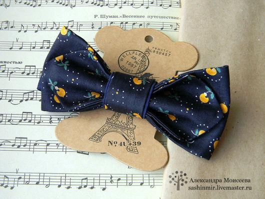 Галстуки, бабочки ручной работы. Ярмарка Мастеров - ручная работа. Купить Бабочка-галстук. Handmade. Тёмно-синий, бабочка галстук