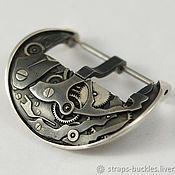 """Часы наручные ручной работы. Ярмарка Мастеров - ручная работа Пряжка для часов (бакля) из серебра """"Механизм"""" 24 мм. Handmade."""