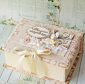 Подарки к праздникам ручной работы. Ярмарка Мастеров - ручная работа Мамины сокровища для девочки в тканевой обложке. Handmade.