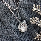 Украшения handmade. Livemaster - original item Medallion with a Hare on a cascade of chains.. Handmade.