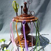 Материалы для творчества handmade. Livemaster - original item Needle organiser for scissors and thread.. Handmade.