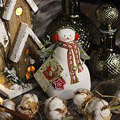Куклы и игрушки ручной работы. Ярмарка Мастеров - ручная работа Тильда-снеговичок. Handmade.