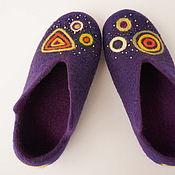 """Обувь ручной работы. Ярмарка Мастеров - ручная работа Валяные тапочки """" Космос"""". Handmade."""