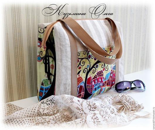 """Женские сумки ручной работы. Ярмарка Мастеров - ручная работа. Купить текстильная сумка """" В город  детства..."""". Handmade."""