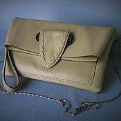Сумки и аксессуары handmade. Livemaster - original item Clutch envelope beige. W0033 Leather.Manual work. Handmade.