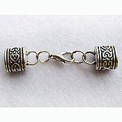 Материалы для творчества ручной работы. Ярмарка Мастеров - ручная работа Зажим-концевик, цвет античное серебро для браслета или ожерелья. Handmade.