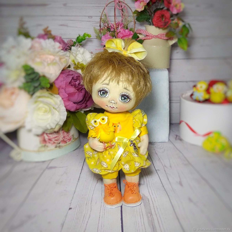 Текстильная кукла Цыпа интерьерная коллекционная, Куклы и пупсы, Буй,  Фото №1