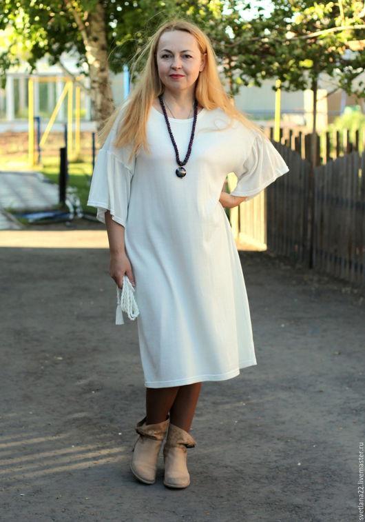 """Платья ручной работы. Ярмарка Мастеров - ручная работа. Купить Летнее платье """"Роскошь белого"""". Handmade. Белый, белое платье"""