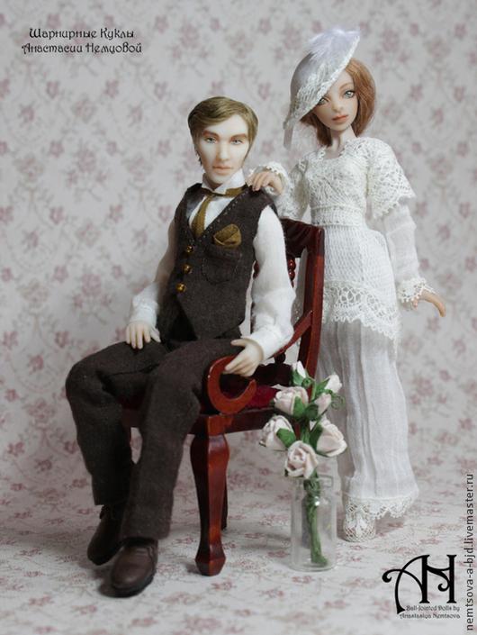 Кукольный дом ручной работы. Ярмарка Мастеров - ручная работа. Купить Кристофер и Сильвия (12,5/13,5 см). Handmade.