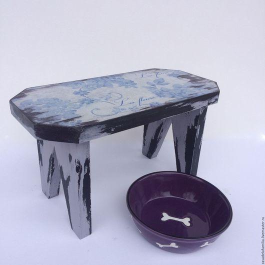 Мебель ручной работы. Ярмарка Мастеров - ручная работа. Купить Стул интерьерный / подставка под миску. Handmade. Стульчик