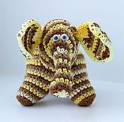 """Куклы и игрушки ручной работы. Ярмарка Мастеров - ручная работа Вязаная игрушка """"Полосатый слон"""". Handmade."""