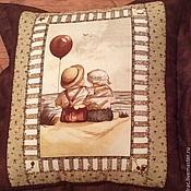 """Для дома и интерьера ручной работы. Ярмарка Мастеров - ручная работа Подушки """"Куда уходит детство..."""". Handmade."""