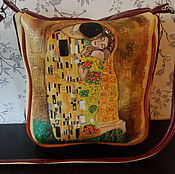 Сумки и аксессуары handmade. Livemaster - original item Women`s leather bag And the Eternal Kiss by Klimt(Sold). Handmade.