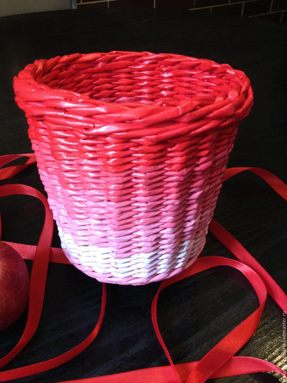 Плетеное кашпо своими руками