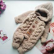 Одежда детская handmade. Livemaster - original item Knitted jumpsuit for a newborn