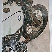 Картины ручной работы. Ярмарка Мастеров - ручная работа Картина мотоцикл BMW. Handmade.