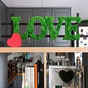 Статуэтки ручной работы. Ярмарка Мастеров - ручная работа Буквы Love из стабилизированного мха. Handmade.