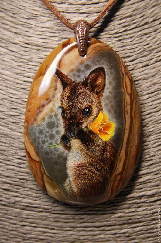 """Кулоны, подвески ручной работы. Ярмарка Мастеров - ручная работа. Купить Кулон """"Привет из солнечной Австралии!"""". Handmade. Коричневый, миниатюра"""