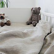 Для дома и интерьера handmade. Livemaster - original item Set of bed linen made of softened linen for babies. Handmade.