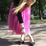 Одежда ручной работы. Ярмарка Мастеров - ручная работа Юбка-миди из фатина. Handmade.