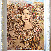 Картины и панно ручной работы. Ярмарка Мастеров - ручная работа Портрет любой по Вашему фото, картины. Пирография, роспись.. Handmade.