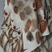"""Аксессуары ручной работы. Ярмарка Мастеров - ручная работа Большой шерстяной палантин """"Шелест листвы"""". Handmade."""