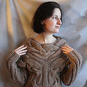 Одежда handmade. Livemaster - original item beige sweater. Handmade.