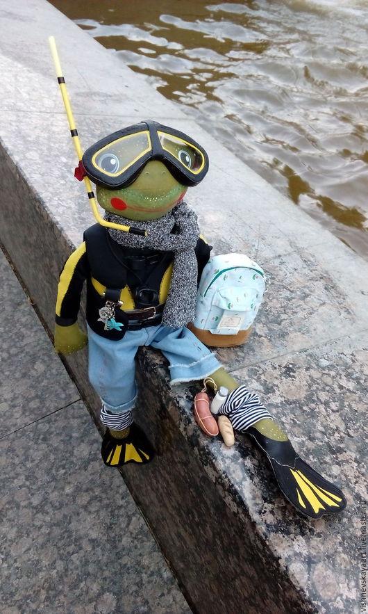 Коллекционные куклы ручной работы. Ярмарка Мастеров - ручная работа. Купить Армандо - покоритель морских глубин!. Handmade. Комбинированный, дайвер