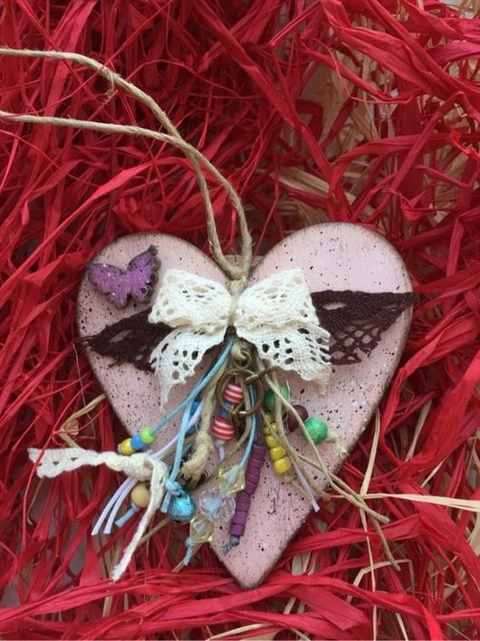 Подвески ручной работы. Ярмарка Мастеров - ручная работа. Купить SALE 30% Валентинка. Сердце и фея бабочек. Handmade. Бирюзовый