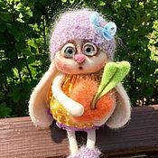 """Куклы и игрушки ручной работы. Ярмарка Мастеров - ручная работа Зайка """"Любовь-Морковь"""". Handmade."""