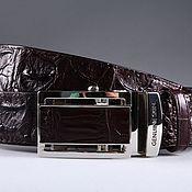 Аксессуары handmade. Livemaster - original item Crocodile leather belt IMA3072K. Handmade.