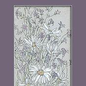 Картины ручной работы. Ярмарка Мастеров - ручная работа «Полевой букет» Картина рисунок цветы ромашки. Handmade.