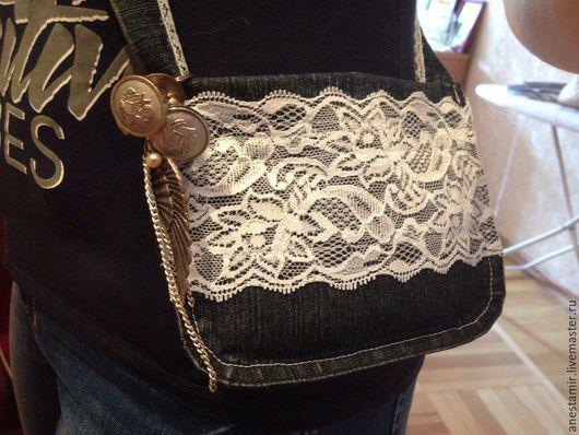 """Для телефонов ручной работы. Ярмарка Мастеров - ручная работа. Купить сумочка для телефона """"Sacd'aile"""". Handmade. Тёмно-синий, бижутерия"""