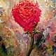 Абстракция ручной работы. Горящий цветок. Оксана Деменко. Интернет-магазин Ярмарка Мастеров. Картина в подарок, цветок, роза