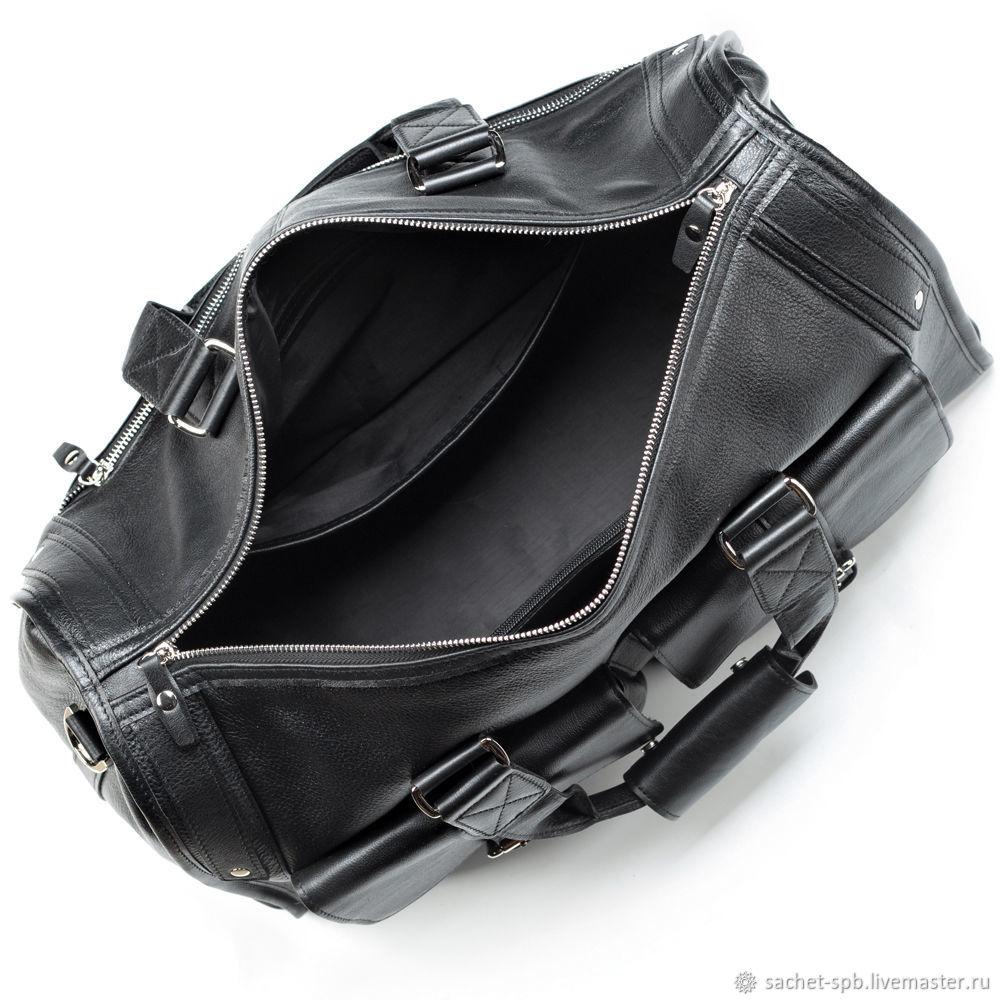 8df4f131d46f Мужские сумки ручной работы. Кожаная дорожная сумка 'Балтимор' (чёрная).  Кожинка ...