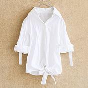Одежда handmade. Livemaster - original item Linen blouson - White. Handmade.