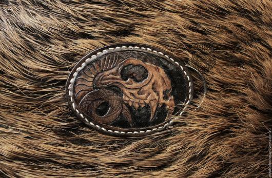 Пояса, ремни ручной работы. Ярмарка Мастеров - ручная работа. Купить Пряжка кожаная. Handmade. Кожаная пряжка, пряжка с тиснением