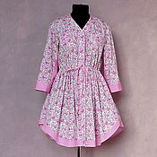 Одежда handmade. Livemaster - original item Dress shirt Button down case. Handmade.