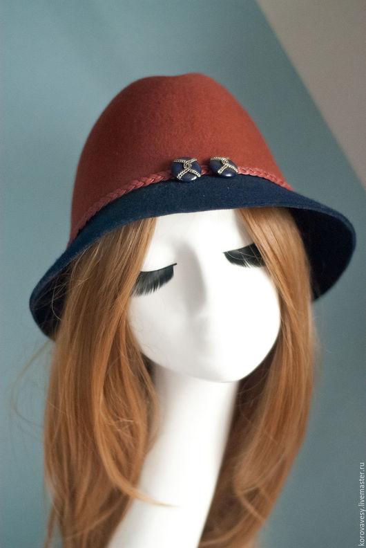 """Шляпы ручной работы. Ярмарка Мастеров - ручная работа. Купить """"Графство Хемпшир"""". Handmade. Коричневый, клош, изящный подарок"""