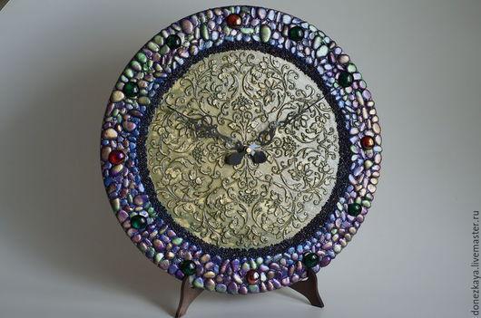 """Часы для дома ручной работы. Ярмарка Мастеров - ручная работа. Купить Часы """"Время собирать камни"""". Handmade. Разноцветный"""