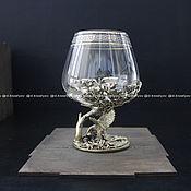Сувениры и подарки handmade. Livemaster - original item brandy glass. eagle. Handmade.