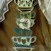 """Для дома и интерьера ручной работы. Ярмарка Мастеров - ручная работа """"Гора посуды"""" Часы кухонные. Handmade."""