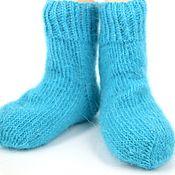 Работы для детей, ручной работы. Ярмарка Мастеров - ручная работа Детские носки из козьего пуха. Handmade.