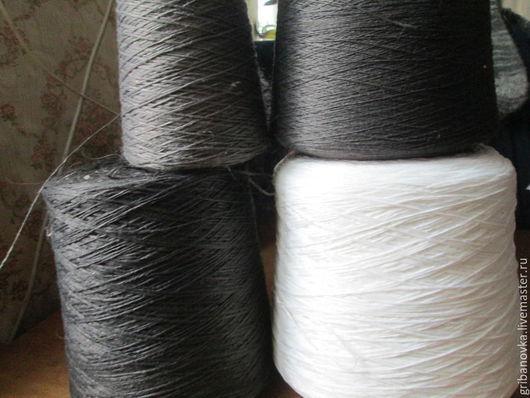 Вязание ручной работы. Ярмарка Мастеров - ручная работа. Купить Нить основа для прядения пуха и шерсти. Handmade. Серый