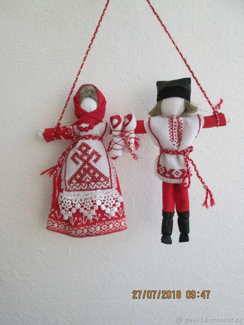 Неразлучники-  славянская обережная куколка, Народная кукла, Казань,  Фото №1