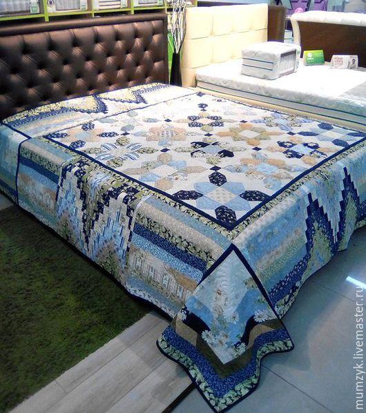"""Текстиль, ковры ручной работы. Ярмарка Мастеров - ручная работа. Купить Лоскутное одеяло """"Ромашковый бриз"""". Handmade. Комбинированный, пэчворк"""