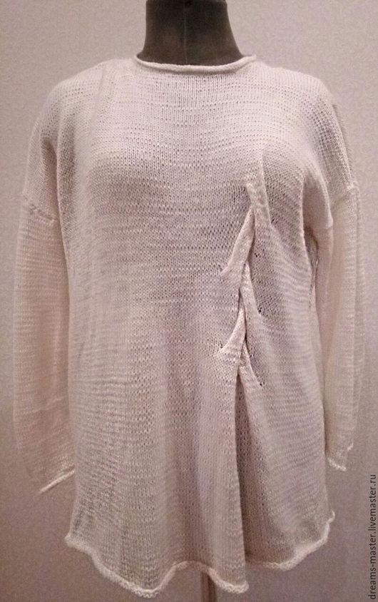 Кофты и свитера ручной работы. Ярмарка Мастеров - ручная работа. Купить Туника. Handmade. Белый, ручная работа, свитер женский