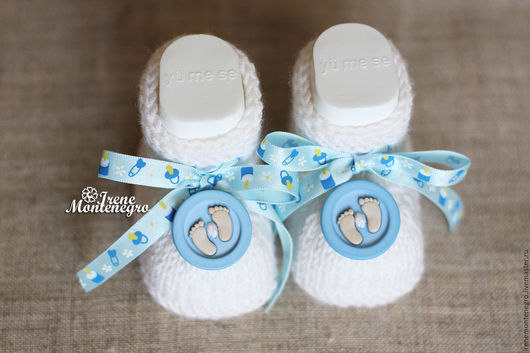 """Для новорожденных, ручной работы. Ярмарка Мастеров - ручная работа. Купить Пинетки """"Крохотные ножки"""" 2. Handmade. Белый"""