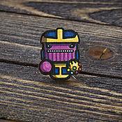 Украшения handmade. Livemaster - original item Wooden icon Thanos. Handmade.